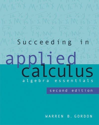 Download Succeeding in Applied Calculus