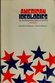 Cover of: American ideologies | Kenneth M. Dolbeare