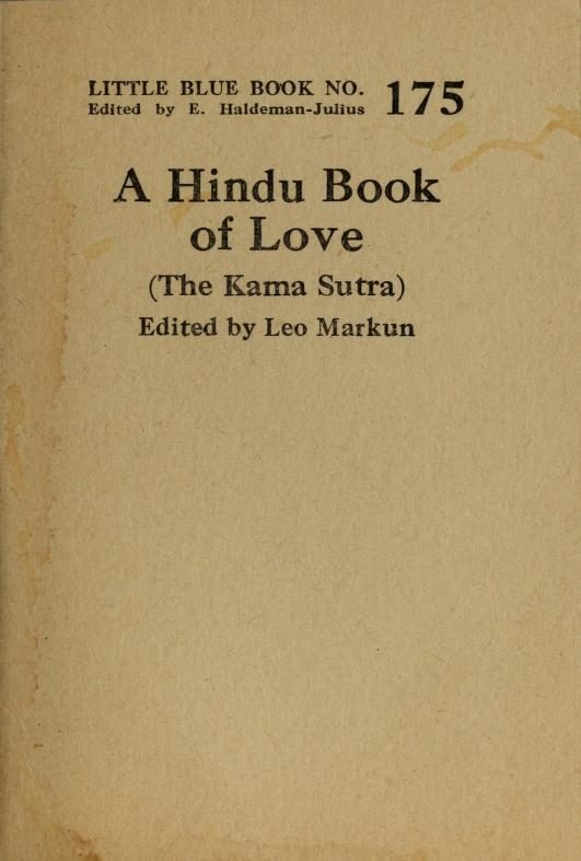 A Hindu book of love by Vātsyāyana