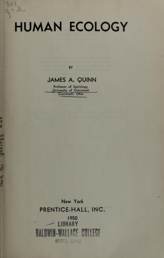 Cover of: Human ecology | Amos Henry Hawley