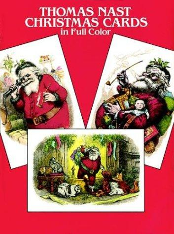 Thomas Nast Christmas Postcards in Full Color by Thomas Nast