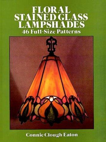 Floral stained glass lampshades by Connie Eaton